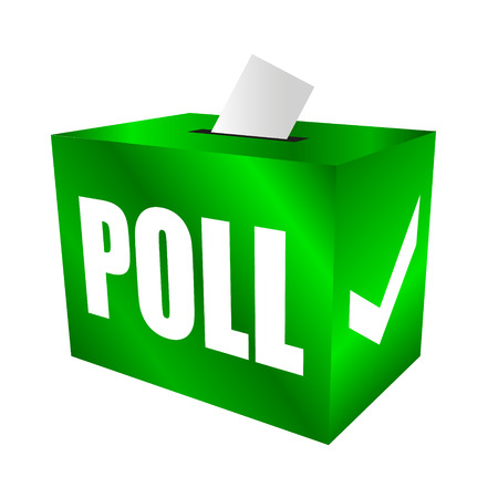 poll: Cast your vote. Poll box for votes, survey reponses or answers to questions