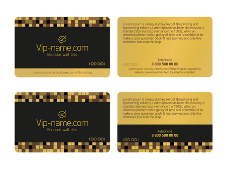 Loyalty card design template. Beautiful gift cards business card isolated.