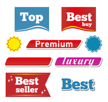 botton: Banners and botton. Vector set For your projects. Illustration