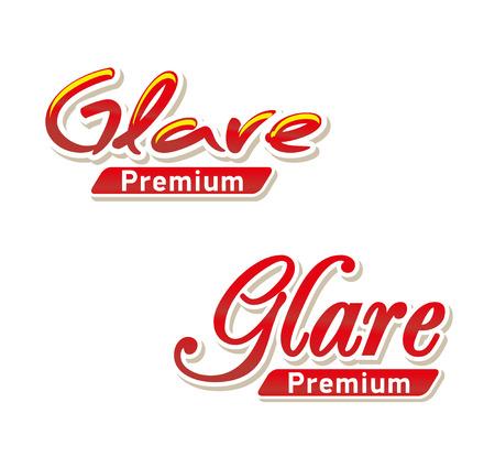 Text Glare premium. Illustration