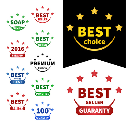 oc: collection vector badges. Premium 2016, Best oc the best, Best choice, Best price, Premium quality, Bestseller, Best seller, Best offer