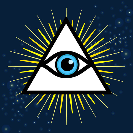 Vector Symbol All Seeing Eye Sign Third Eye Royalty Free
