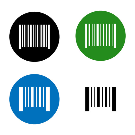 Vector icon illustration barcode. Button qrcode. isolated on white background. Illustration