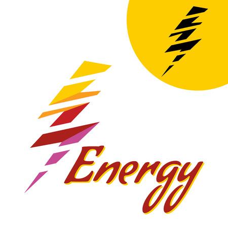 perilous: Vector illustration color Lightning. Thunder Icon. Thunder with lightning. danger light power illustration.