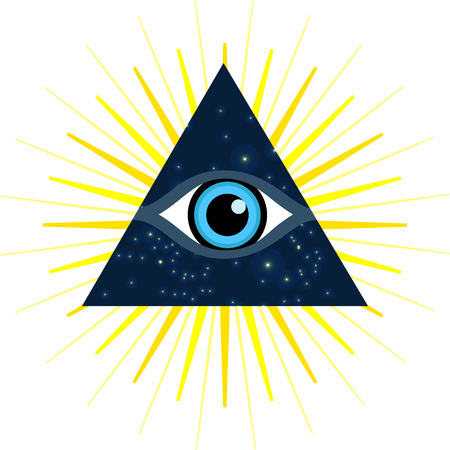 third eye: Vector symbol - All seeing eye. Sign - third eye.