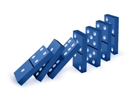 La chute des dominos Banque d'images - 59302733