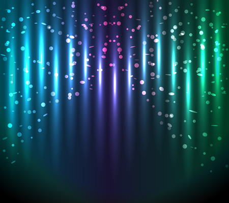 bluegreen: abstract glowing  blue-green background. Vector glowing stripes.