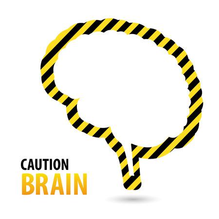 Brain Warning tape, danger tape