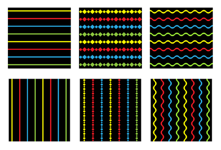 seamless striped pattern Illustration