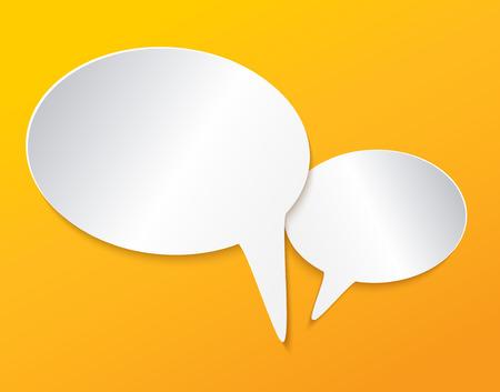 speech bubble. communication Vettoriali