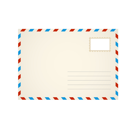 Modèle enveloppe lettre Illustration vectorielle. Vecteurs