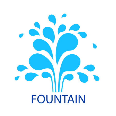 Vector abstract fountain on white background.