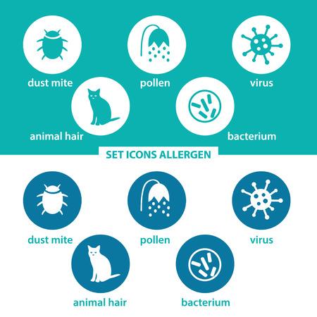 Set icons allergen