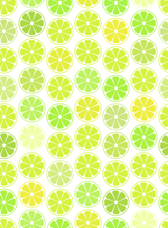 Simple seamless pattern, oranges,  lemon and lime on a white background. For your business projects for web or print.Cut slices of orange and citrus. Illustration