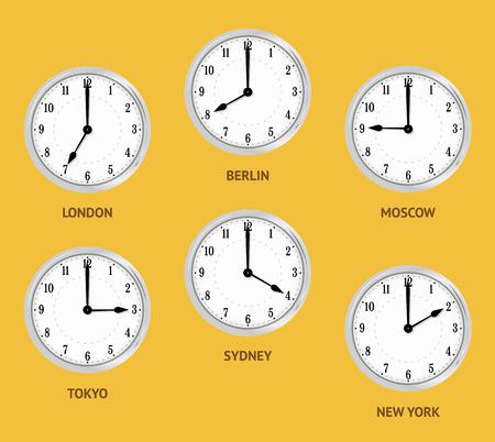 Wanduhren zeigt die englische Zeiten
