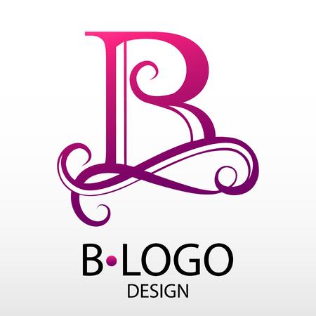 Design modern logotype for Business. Vector logo letter B monogram on white background. For a beauty salon or medical company. Vettoriali
