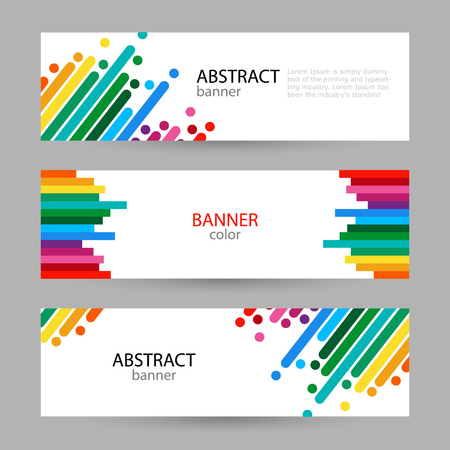 Set horizontal banners with empty place for text. Abstract summer vector backgrounds. color banner templates for your projects.