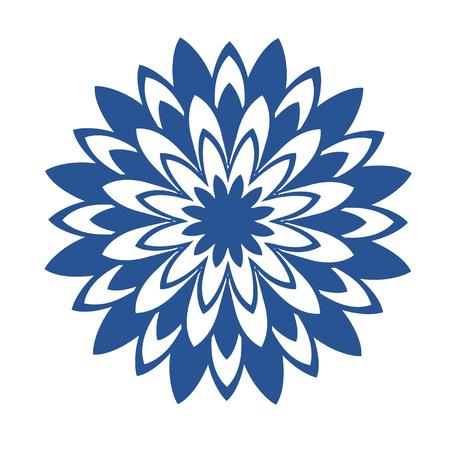 Oriental circle pattern. Laser cutting mandala. Blue floral pattern. Vector coaster design. 矢量图像