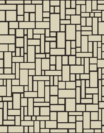 brick wall seamless. Vector illustration background. Organic Rounded Jumble Shapes. Abstract Geometric beige Pattern.