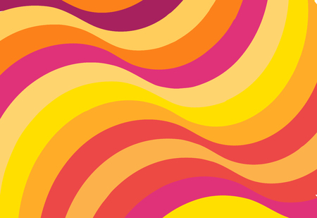Red wave pattern background. abstract graphic vector. Summer color line.