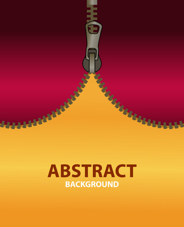 Bright vertical abstract background for advertising poster. Open dark red zipper on a orange background. banner template an empty space for text, for your projects.