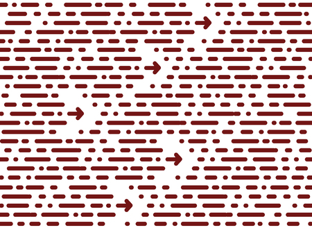 seamless chaotic pattern. horizontal stripe and dots. Dotted lin Illustration