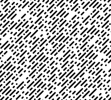 halftone chaotic pattern. diagonal stripe and dots. Dotted lines and points graphic design. Black and White Abstract Background. vector illustration.