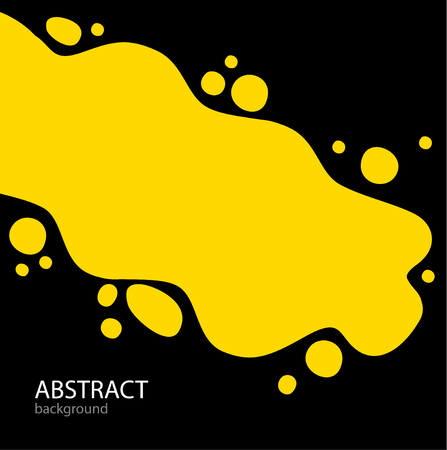 Bright Abstract background. yellow paint and spray around on bla
