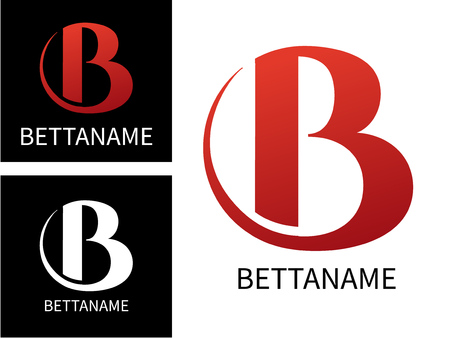 Letter B logo for Business. Template Colorful letter