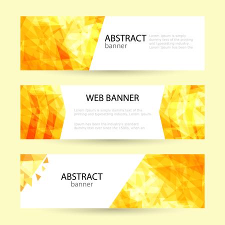 Establecer plantillas de banner web de verano horizontal. Rayos de sol brillantes Ilustración de vector