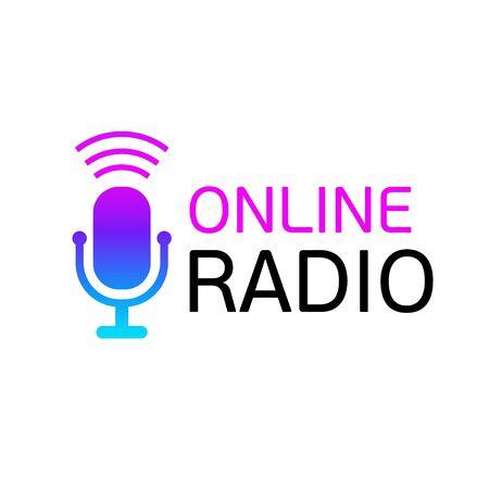 Design logo Online radio or color icon. Illustration