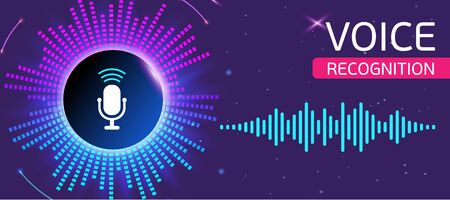 Bright banner for voice and sound recording