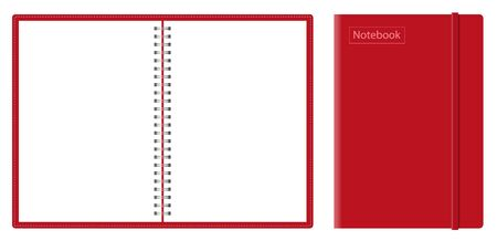 Vector realistic mock-up notepad. spiral for notebooks.