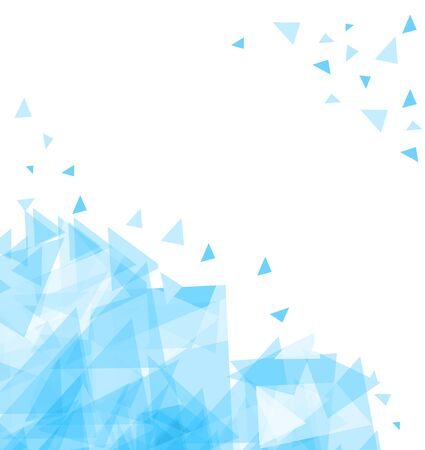 Modern Abstract background of chaotically moving triangles.
