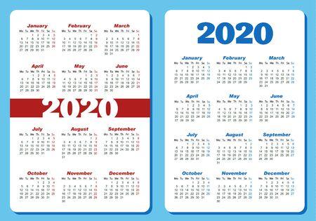 Two different designs for vertical pocket calendar.