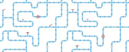 industrial seamless pattern. piping for water, gas, oil.