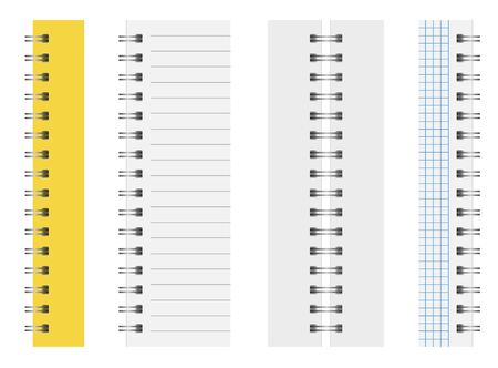 Springs for notebooks. Set with closed and open Notepad.