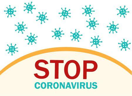 STOP coronavirus. Many Corona viruses fly around the borde