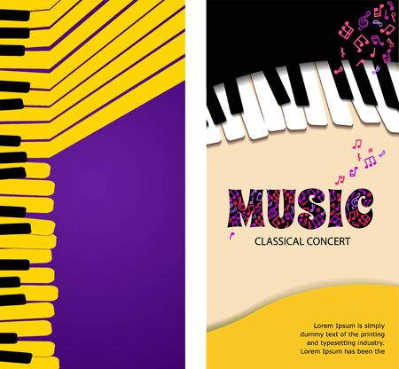 Music abstract background for banner or roll up.