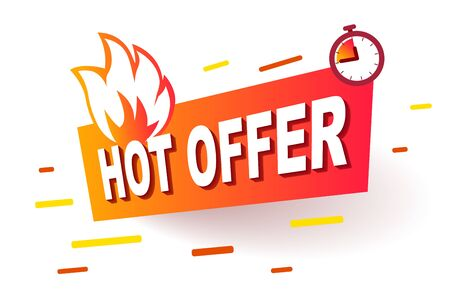 Hot Offer Label. Modern Web Banner Element Promotion background Offer.