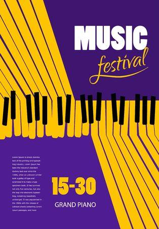 Poster Music festival, vector concept. template flyer
