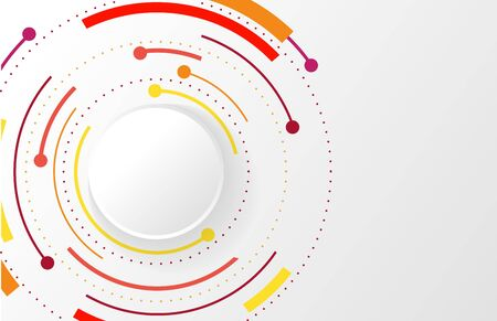 Abstract business background with circle line on white. Design background in modern Trendy style. vector illustration. Red circles of lines.
