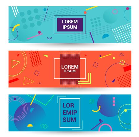 Color Abstract geometric background. promotion web banne