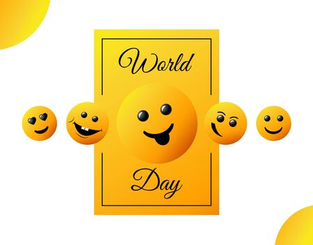 World Smile Day. bright vector greeting card