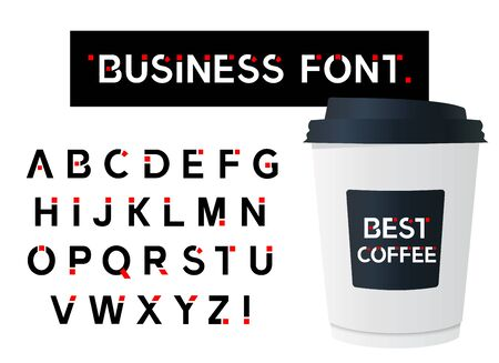 Business Modern Alphabet Font. Capital letter. Typography