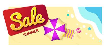 Summer Sale, Promotion banner Offer. horizontal Banner