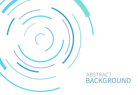 Abstract background with color circle line on white