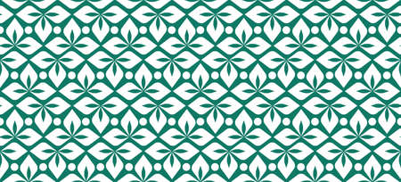 Seamless leaves pattern green. Ornament of leaves.
