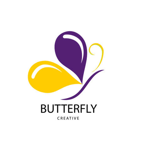 Abstract Bright butterfly sign. Design modern logos butterfly for Business.