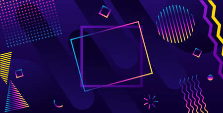 Abstract geometric ultraviolet background. Modern futuristic style. 일러스트